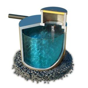 Септик, выгребная яма из бетона. Объем 2600 литров