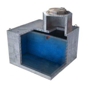Купить емкость для выгребной ямы 4500 литров двухкмерная для высоких грунтовых вод