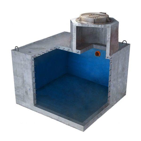 """Купить емкость для выгребной ямы 5000 литров """"минимальная"""" для высоких грунтовых вод усиленный"""