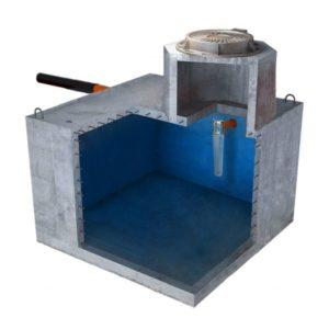 Септик бетонный однокамерный