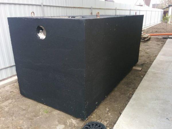 Септик 4000 литров из гидротехнического бетона