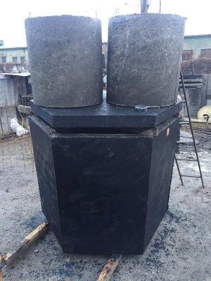 Септик, выгребная яма из бетона. Объем 2500 литров